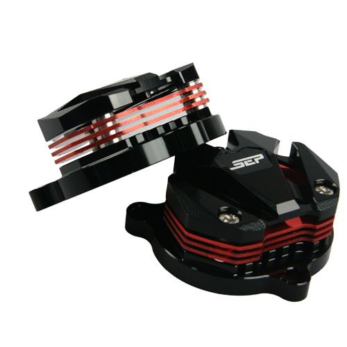 タペットカバー シグナスX BWS125 ブラック/レッド