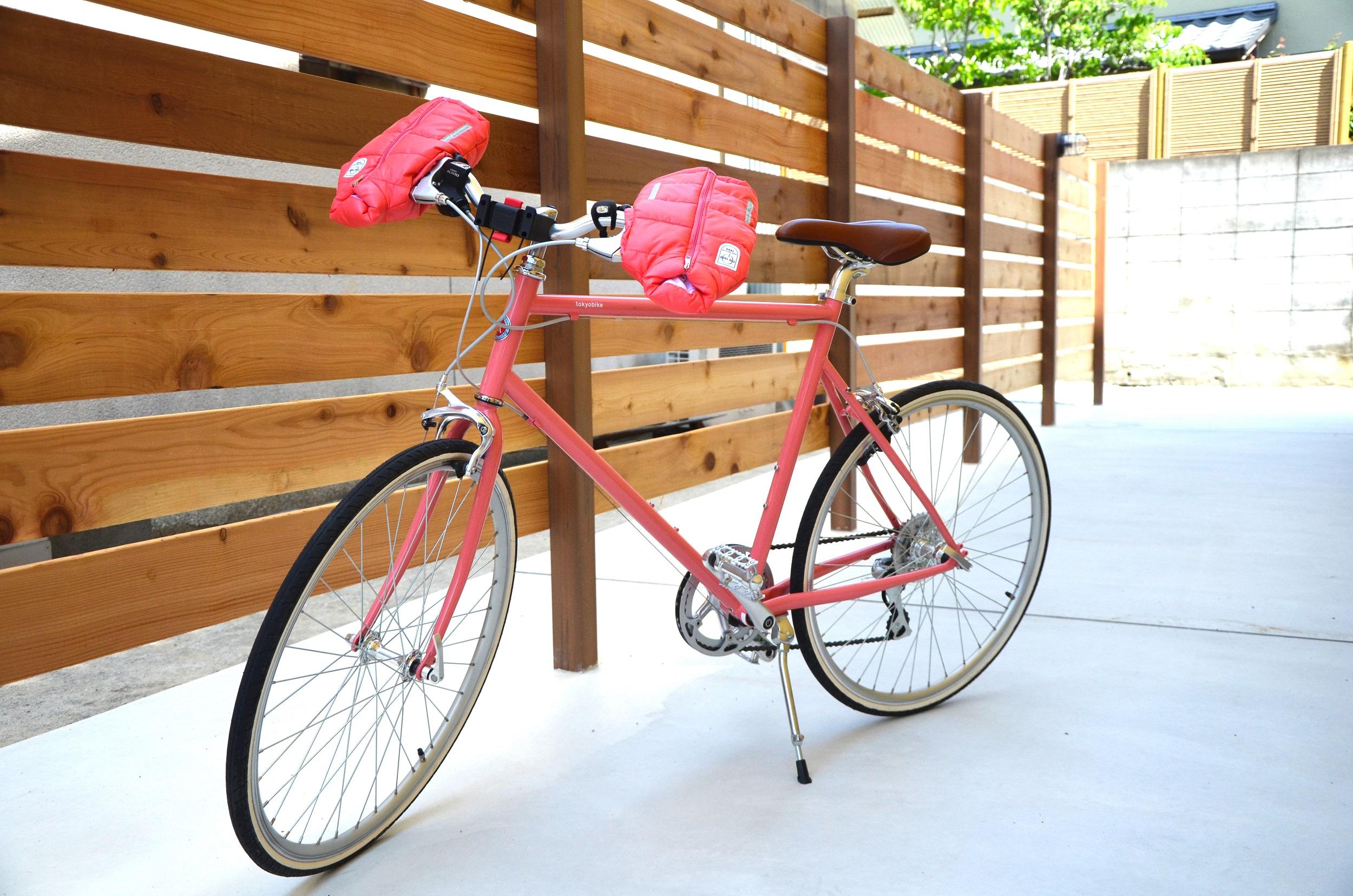 K4100 サイクルジャケット ハンドルカバー クリアブルー