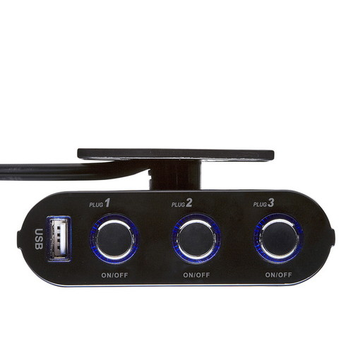 CAR-CHR60CU USB付き3連ソケット シガーライターソケット用
