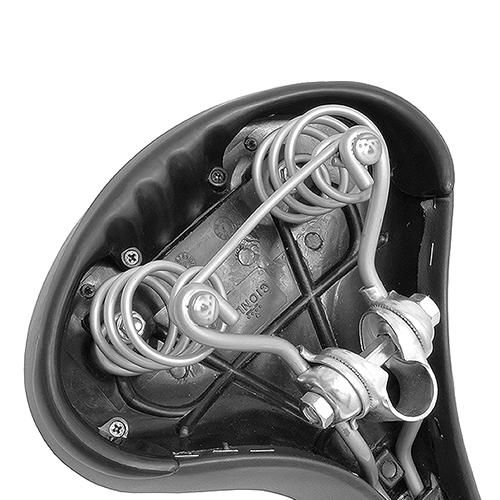 666-LR 低反発ウレタン内蔵サドル ダークグレー