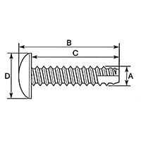 ウインカー&ボディ用ビス 十字穴付/トラス/2種タッピング M4×14 0900-046-09203