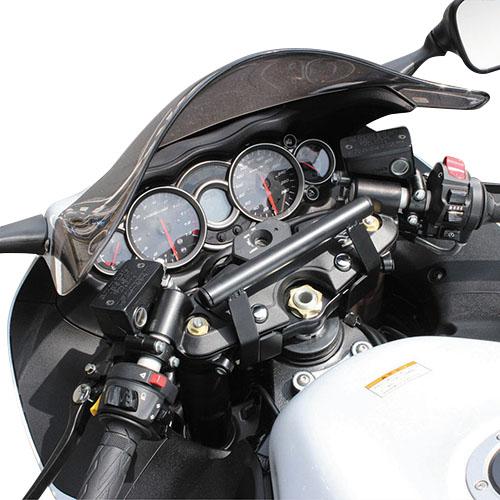 ハンドルマウントステー ブラック GSX1300Rハヤブサ