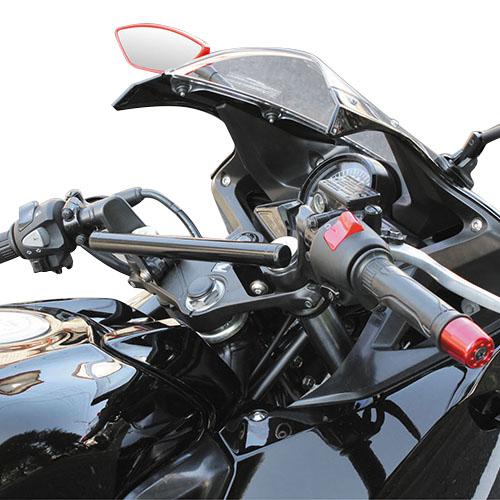 ハンドルマウントステー ブラック CBR250R 11y-