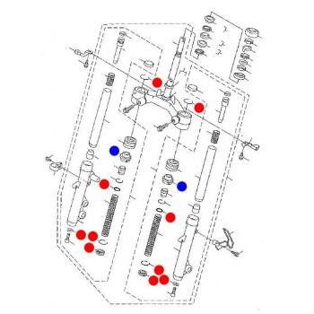フロントフォークオーバーホールキット NXC125-332