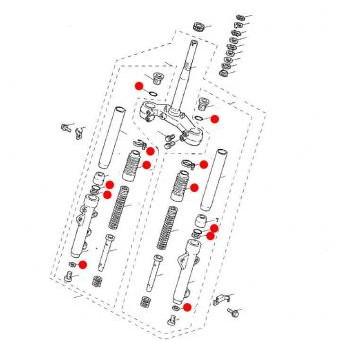 フロントフォークオーバーホールキット 125-0019