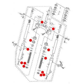 フロントフォークオーバーホールキット [シグナスX 33φ,2型/3型/4型]