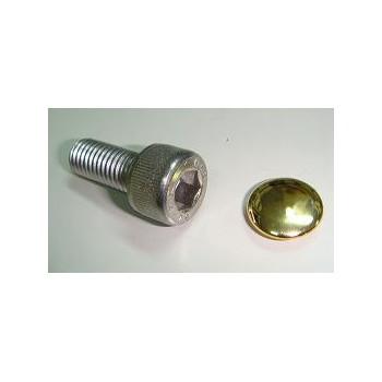 ヘックスボルト用 ヘッドキャップ 8mm ゴールドメッキ