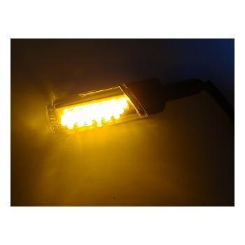 汎用LED円柱形ミニランプ [STARTECH] オレンジレンズ/メッキボディー