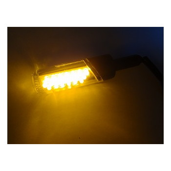 汎用LED円柱形ミニランプロング [STARTECH] オレンジレンズ/ホワイトボディー