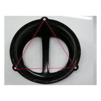 汎用ファンカバータイプ2 [マットブラック] 正三角形穴ピッチ