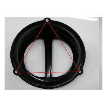 汎用ファンカバータイプ2 [レッドメッキ] 正三角形穴ピッチ