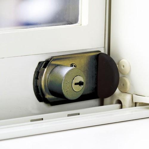 防犯強化ロック 窓用 ファスナーロック 鍵付 FB469