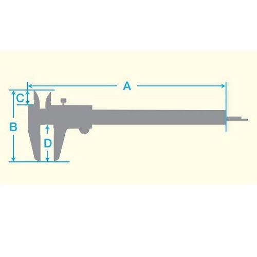 シルバーM型ノギス 200mm SK-M200