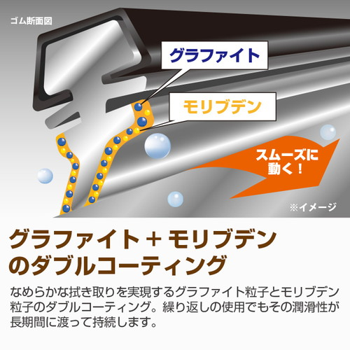 長さ600mm×ゴム幅9mm ハイブリッドワイパー(エアロデザイン) 替えゴム 5本セット