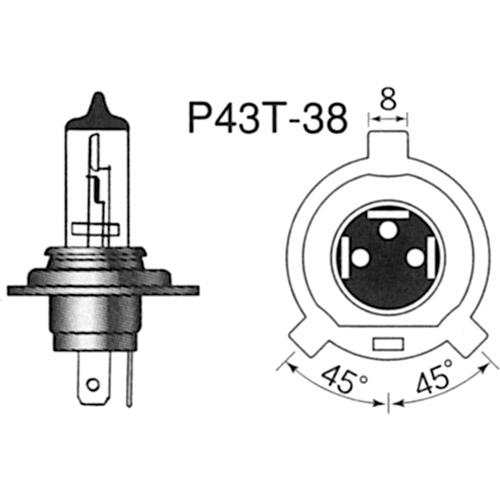 ヘッド球 H4 12V60/55W(100/90Wクラス)Wサファイア