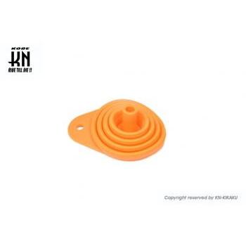 折りたたみシリコンジョウゴ オレンジ