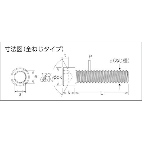 六角穴付ボルト ステンレス全ネジ M3×15 52本入