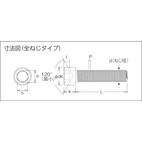 六角穴付ボルトユニクロ 全ネジ M5×12 56本入