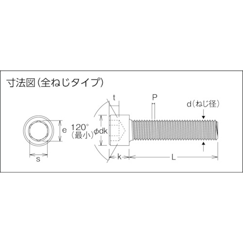 六角穴付ボルトユニクロ 全ネジ M10×20 17本入