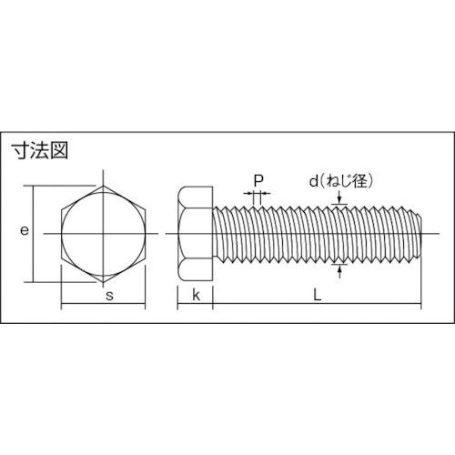 六角ボルトチタン 強度Ti2 全ネジ M5×20 6本入