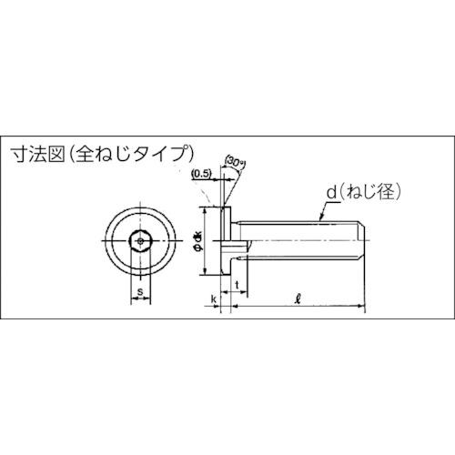 超低頭SUSキャップボルト M8×25 3本入
