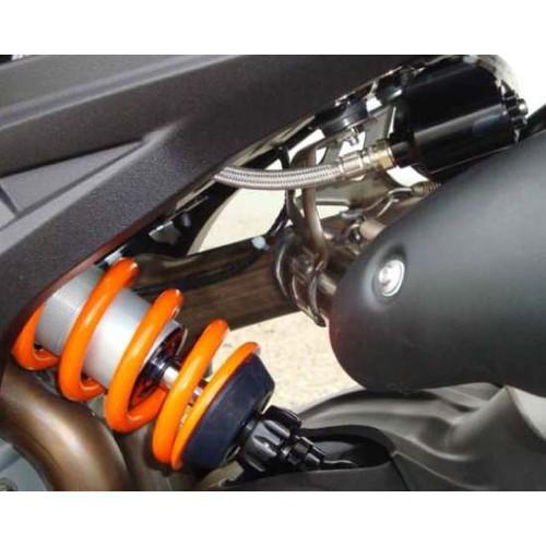 【受注生産品】 リアショック M46KFモデル 油圧プリロードアジャスター付 MD112.14KFPK