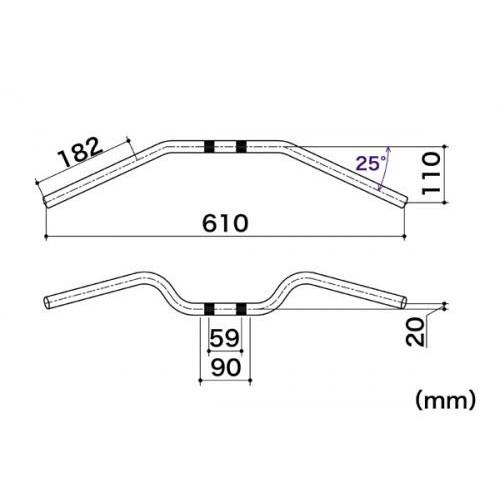 ハンドル セミアップタイプ メッキ