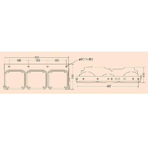 リアコンビネーションランプ 3連式 右