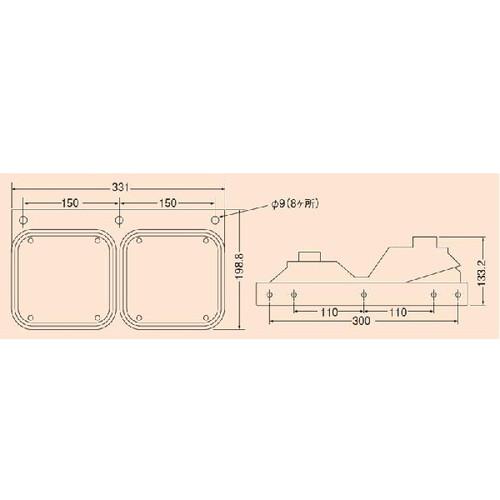 リアコンビネーションランプ 2連式 右