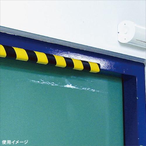安心クッションL字型90cm 細 トラ柄 ブラック/イエロー
