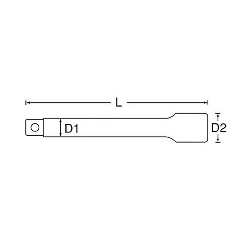 3/4DRエキステンションバー 150MM
