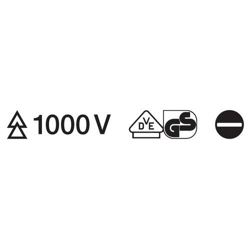 (-) スリム絶縁ドライバー 1000V