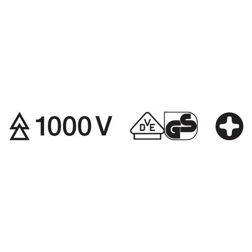 (+) スリム絶縁ドライバー 1000V