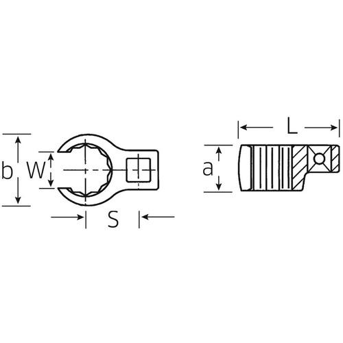 (3/8SQ)クローリングスパナ 440-25