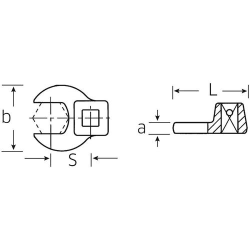 (3/8SQ)クローフットスパナ 540A-1.1/2