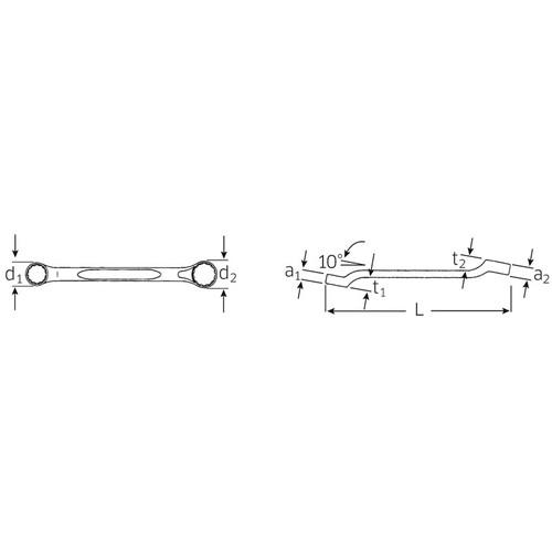 メガネレンチ (HPQ) 180A-1/2X9/16