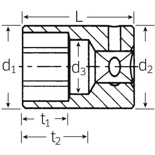 (1/4SQ)ソケット (6角) 40A-5/32