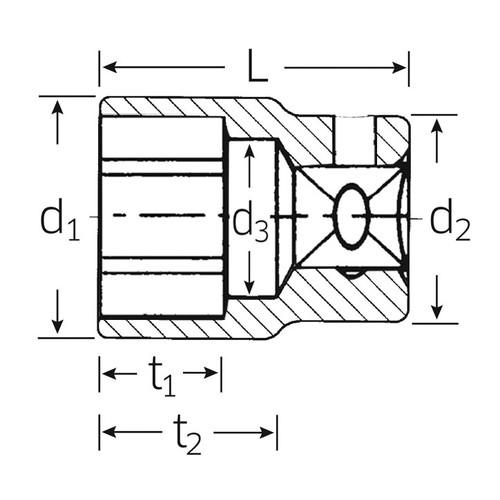 (3/4SQ)ソケット (6角) 55-38