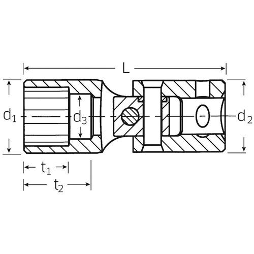 (1/4SQ)ユニフレックスソケット 402A-1/4