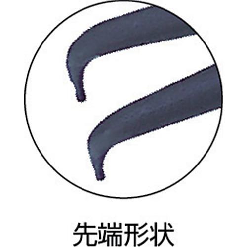 スナップリングプライヤ穴用曲爪 125mm 使用範囲6〜11mm