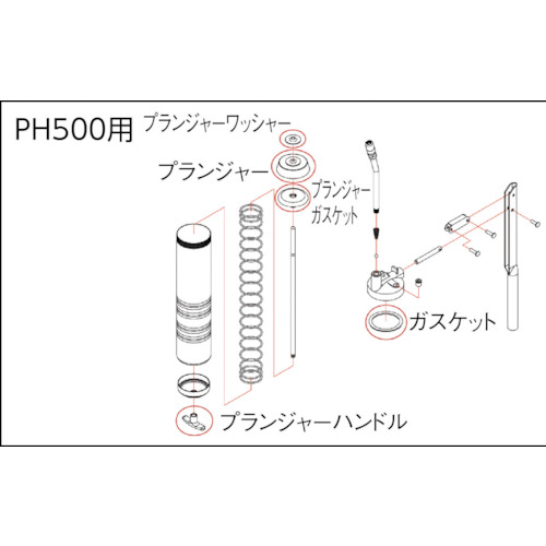 高圧グリスガンPH500用 プランジャー