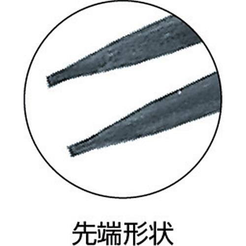 スナップリングプライヤ穴用直爪 230mm 使用範囲32〜80mm