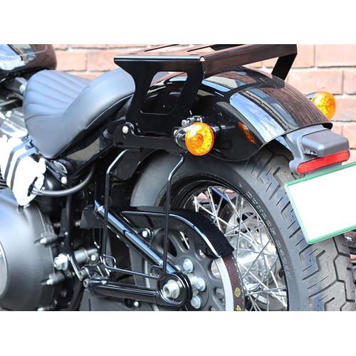 サドルバッグガード オールインワン DHW対応 ブラック/レフト HD-07901