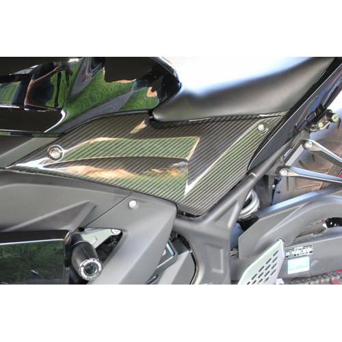 タンクサイドカバー 左右セット ドライカーボン 平織艶あり