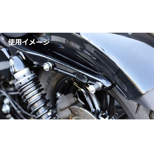 ウインカーホールカバー クロームメッキ スポーツスター(14Y-) ソフテイル(18Y-)