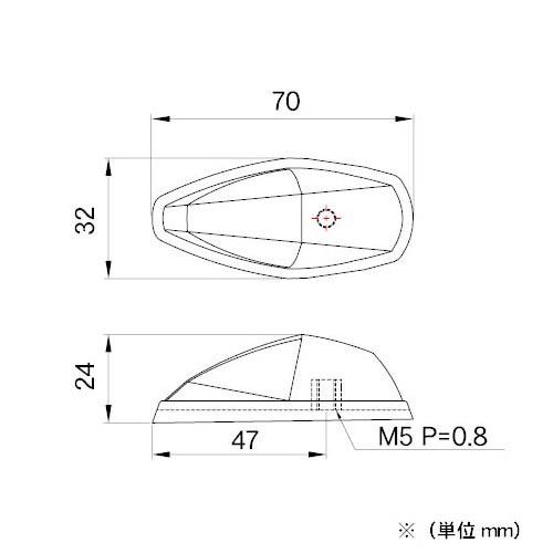モトレッド Type-586 ティアドロップLEDフラッシャー スモーク