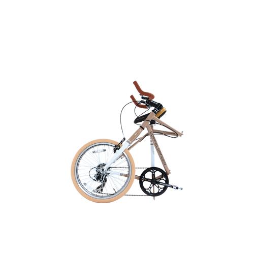 【直送】20インチ折りたたみ自転車 グレイ