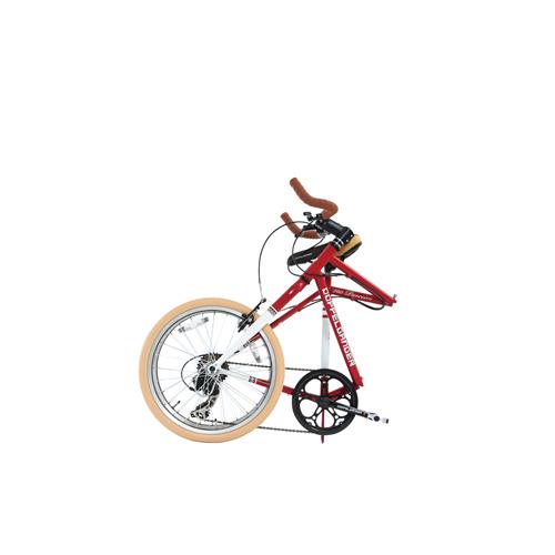 【直送】20インチ折りたたみ自転車 レッド