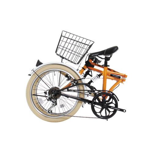 【直送】20インチ折りたたみ自転車 オレンジ
