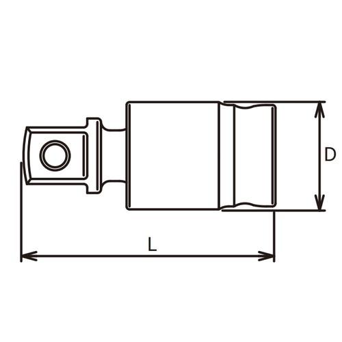 1/2(12.7mm)SQ. Z-EAL ユニバーサルジョイント